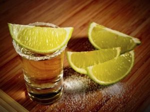 Tequila, salt, lime, caballito