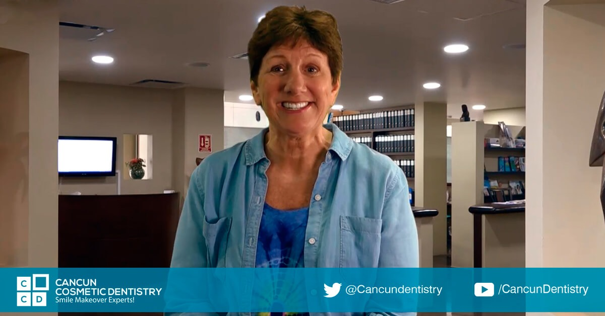 She loves coming to her dentist in Cancun! - Find affordable dentistry