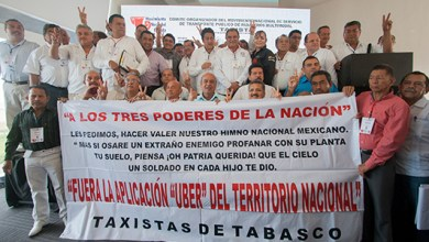 Photo of Desde Cancún taxistas del país anuncian caravana contra Uber; 12 octubre