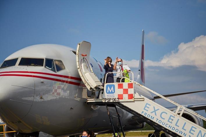 avión turista