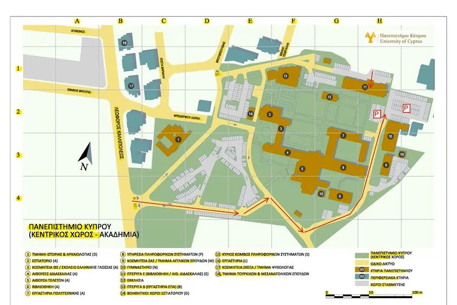 Kallipoleos Campus Map