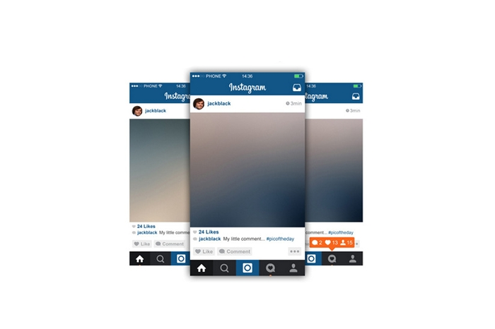 34 free instagram mockup layouts for 2017 psd ui iphone feed