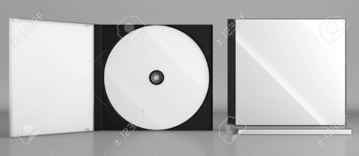 3d render of a cd dvd compact disc plastic box mockup on grey