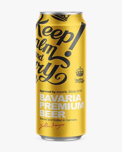 500ml beer can mockup in can mockups on yellow images object mockups