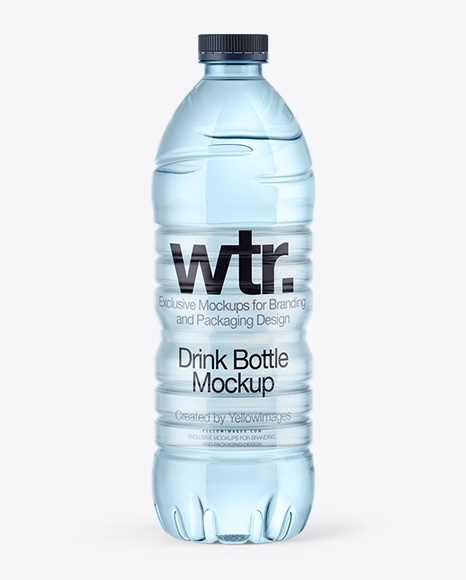 750ml blue water bottle mockup in bottle mockups on yellow images