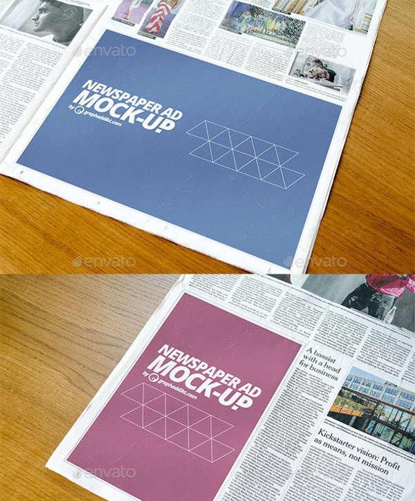 9 newspaper mockups free psd vector eps format download free