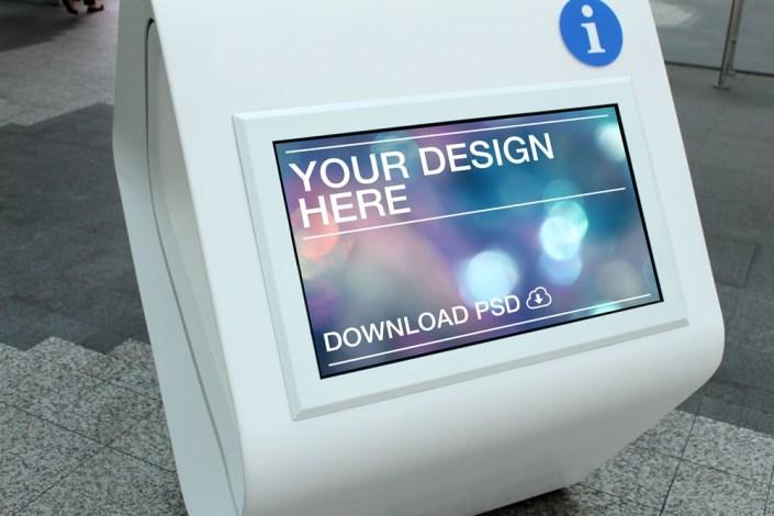 96 free free kiosk mockup cdr psd