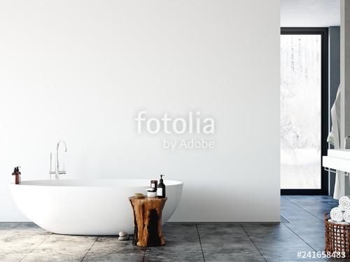 bathroom interior wall mockup wall art 3d rendering 3d