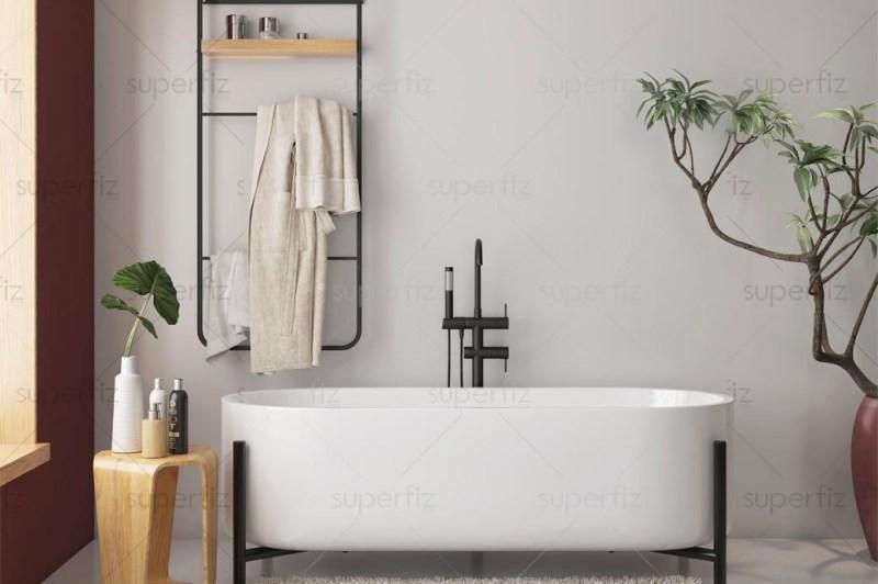 bathroom mockup to change the wall surface
