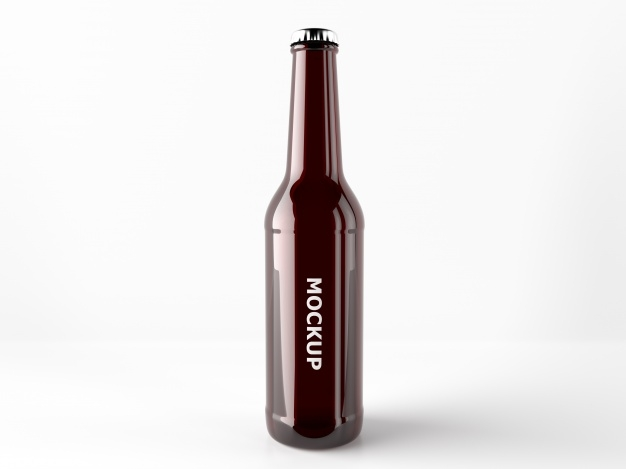 beer bottle mock up design psd file free download