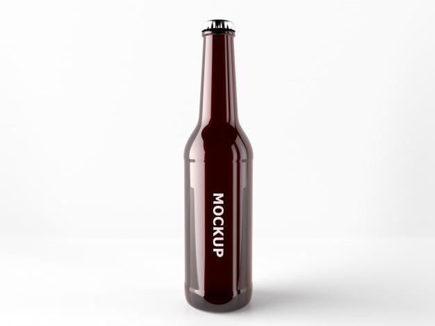 beer bottle mock up design psd file free download