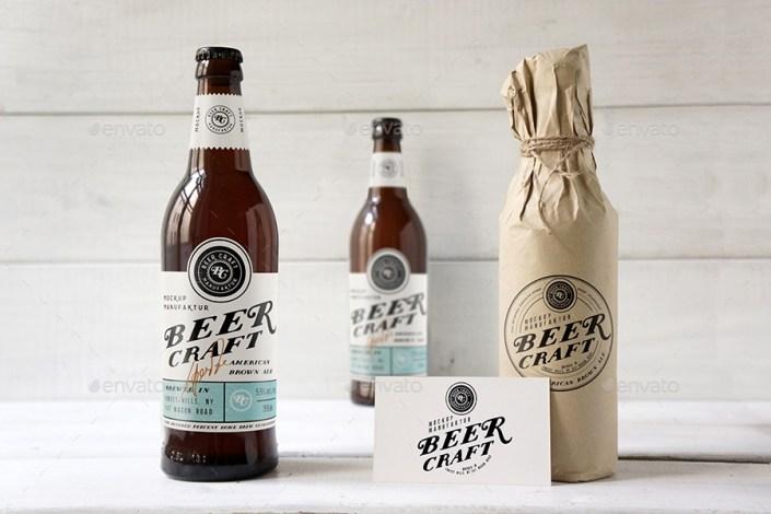beer bottle mockup amris graphicriver