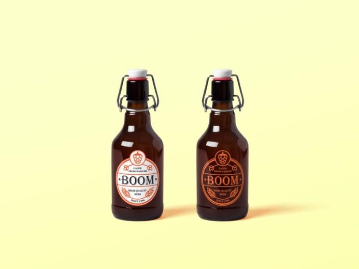 beer bottle mockup free mockup