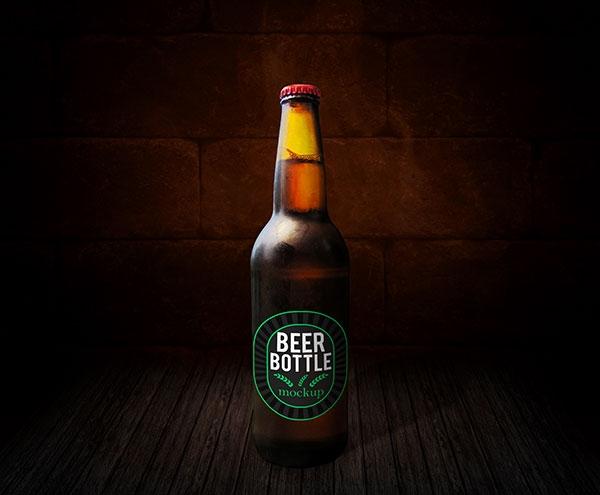 beer bottle mockup free mockups freedesigns