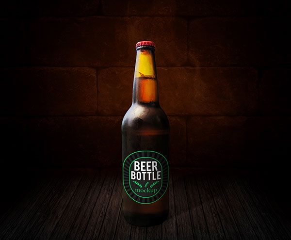 beer bottle mockup free mockups freedesigns