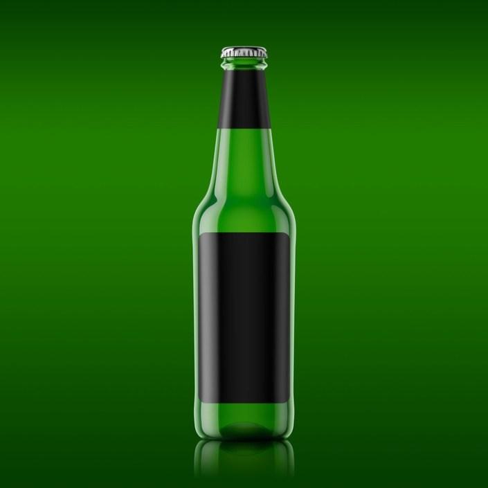 beer bottle mockup free psd file