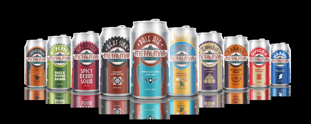 beer can mockup banner metalman brewing co metalman brewing co