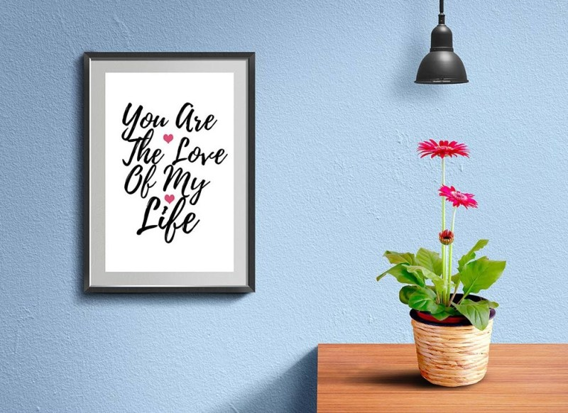 best free poster mockup with wall frame free psd mockup daily mockup