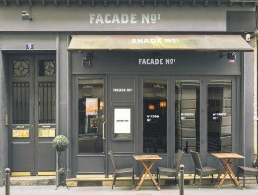 bistro cafe front facade entrance psd mockup psd mockups