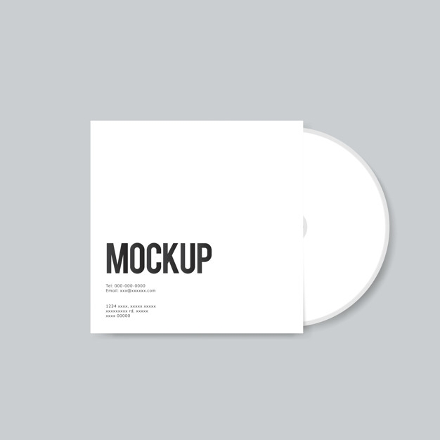 blank cd cover design mockup psd file free download