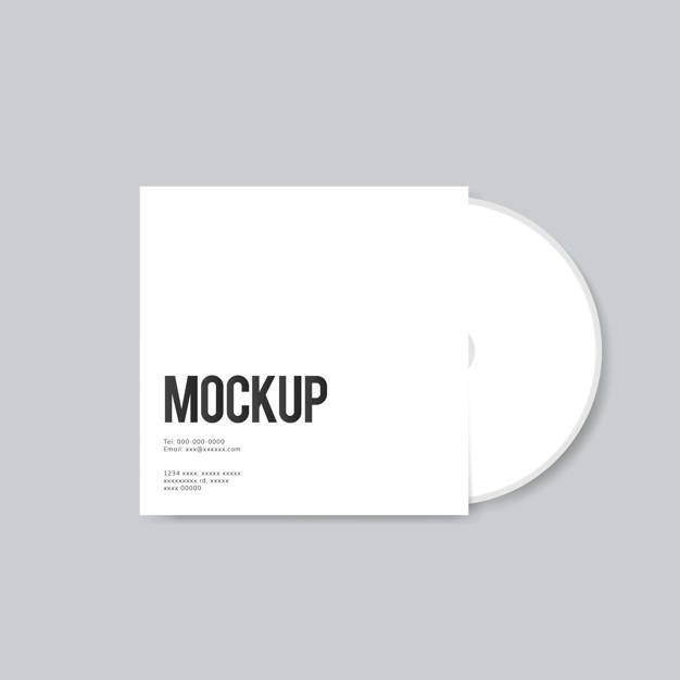 blank cd cover design mockup psd file free download
