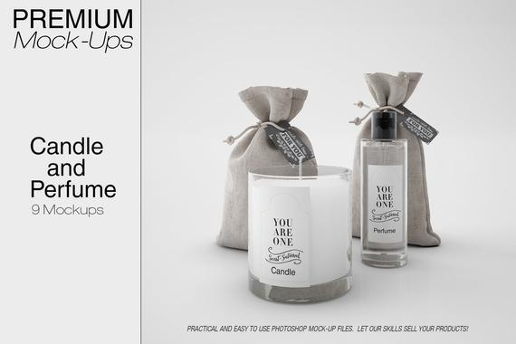 candle and perfume mockup candle mockup candle in a glass etsy