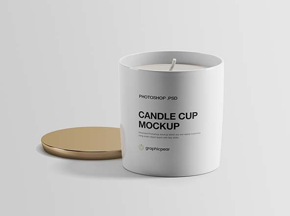 candle cup mockup