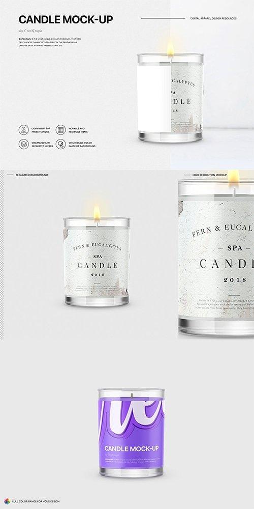 candle mockup avaxhome