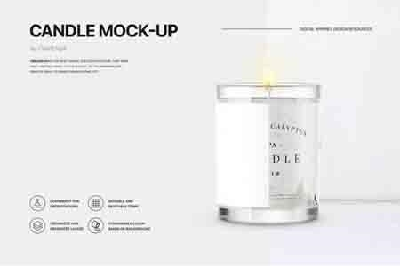 candle mockup freepsdvn