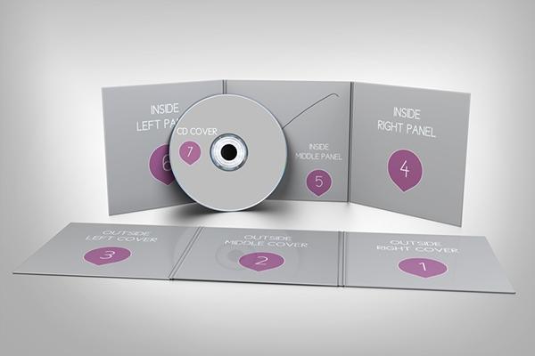 cd sleeve mockup v1 on behance