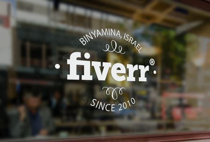 create a beautiful storefront window signage mockup fxkid