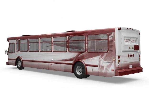 creative bus mockup psd file free download
