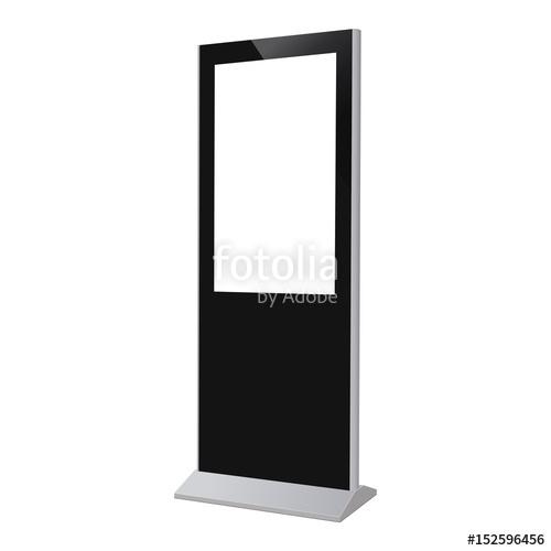 digital kiosk display electronic poster with blank screen mockup