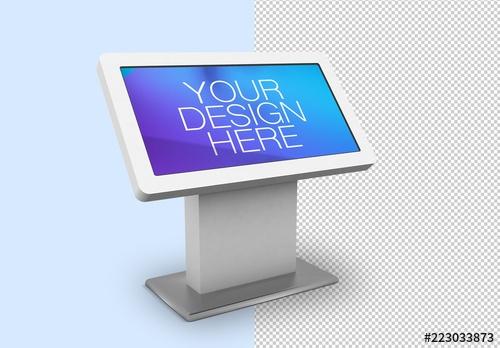digital kiosk mockup buy this stock template and explore similar