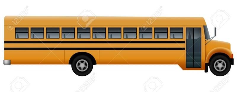 door side of school bus mockup realistic illustration of door