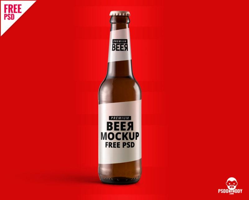download beer bottle mockup free psd psddaddy
