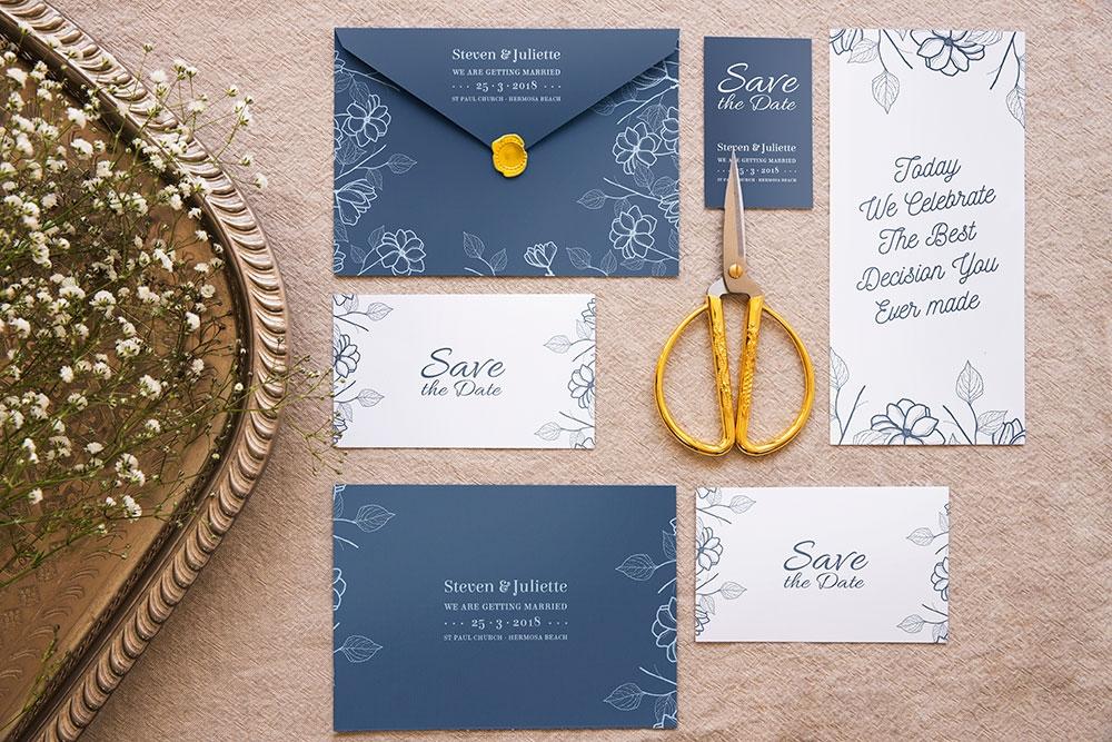 download this elegant wedding invitation mockup designhooks