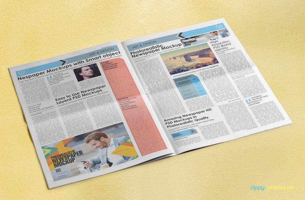 dribbble newspaper mockup vol5 1 zippypixels