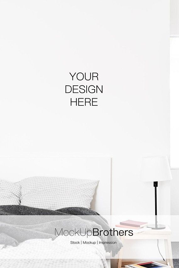 empty wall mockup bedroom mock up portrait canvas mockup