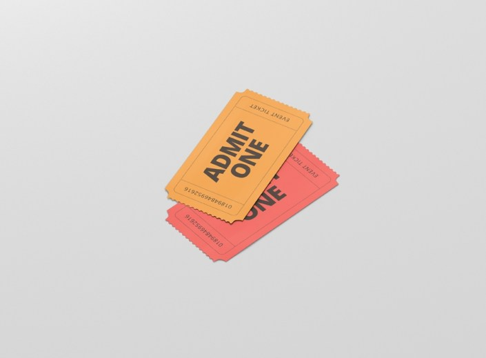 event ticket mockup small size premium and free mockups