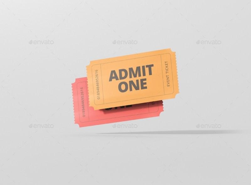 event ticket mockup small size visconbiz graphicriver
