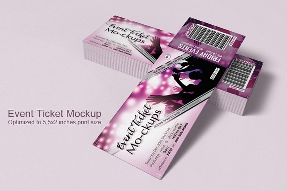 event tickets mockup mockup store