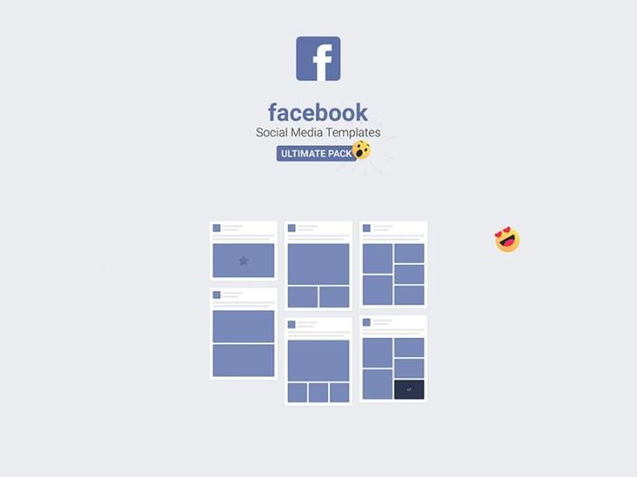 facebook mockups social media templates 2018 free psd template