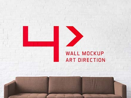 free brick wall mockup psd