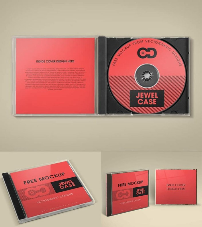 free cd jewel case mockup mockuptree