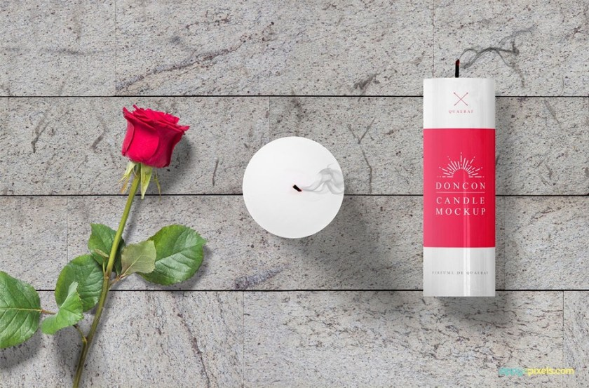 free gorgeous candle mockup scene css author