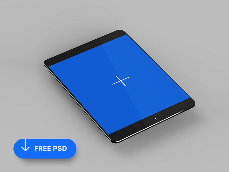 free isometric ipad mockup teddygraphics on dribbble
