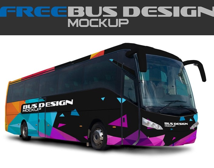 free mock up bus design on behance