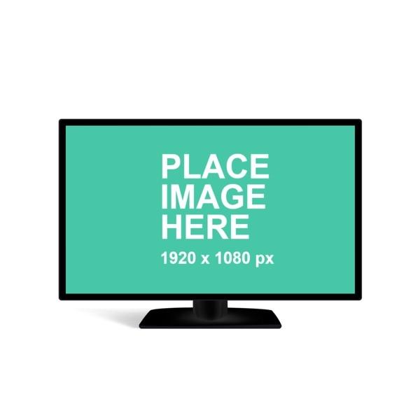 free mockup tv in meeting room