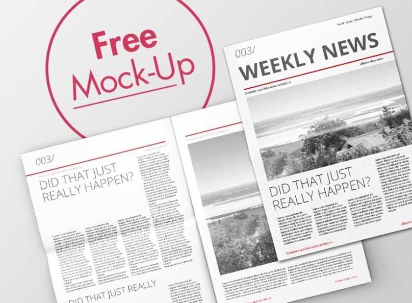 free newspaper mock up on behance